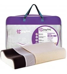 Подушка двухслойная (карбоновый слой с ионами серебра)
