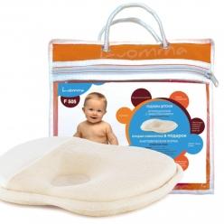 Подушка с эффектом памяти для детей от рождения до года LumF-505. 23х25 см