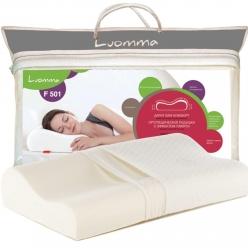 Подушка с эффектом памяти LumF-501. 35х56 см. Валики 10 и 12 см