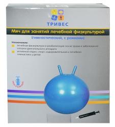 Мяч гимнастический детский с рожками 55см Тривес М-355